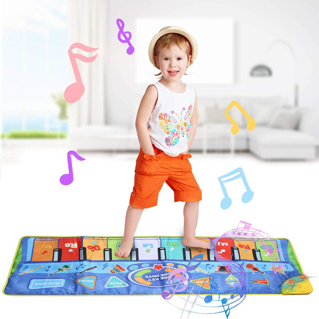 Baby Piano Playing Mat Musical Carpet With Animal Voice Music Game Instrument Montessori Toy Early Educational Toys For Children 2