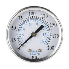 Ts-50-14 портативный манометр гидравлический воздушный компрессор вакуумный манометр тестер давления 0-200 фунтов/кв. дюйм 0-14 бар 1/4 Npt