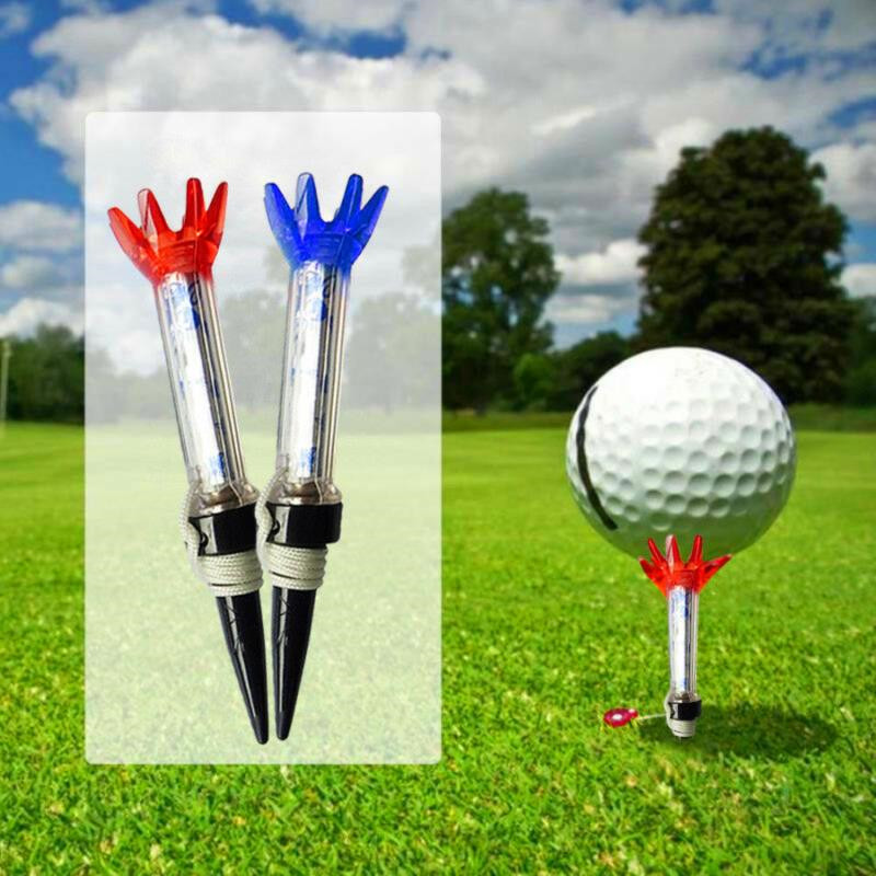 Long Outdoor Golf Tees Plastic Magnetic Step Down Ball Holder With Anchor 4 Pcs 130mm Driving Range Trainer Aid Tool Accessories