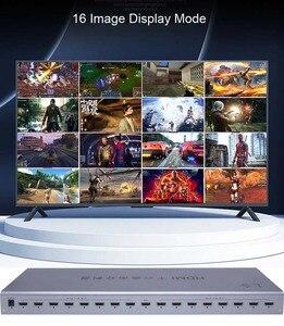 Image 4 - محول متعدد المشاهد بشاشة عرض عالية الوضوح 4K HDMI 16x1 متعدد المشاهد محول 16 في 1 خارج سلس التبديل متعدد المشاهد صورة شاشة مقسم HDTV
