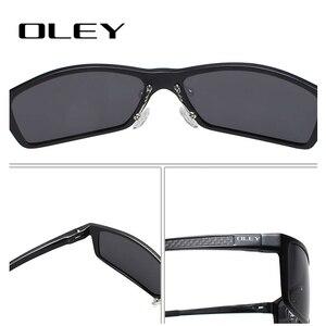 Image 5 - Oley Merk Mannen Vintage Vierkante Zonnebril Gepolariseerde UV400 Lens Eyewear Accessoires Mannelijke Zonnebril Voor Mannen/Vrouwen Y7160