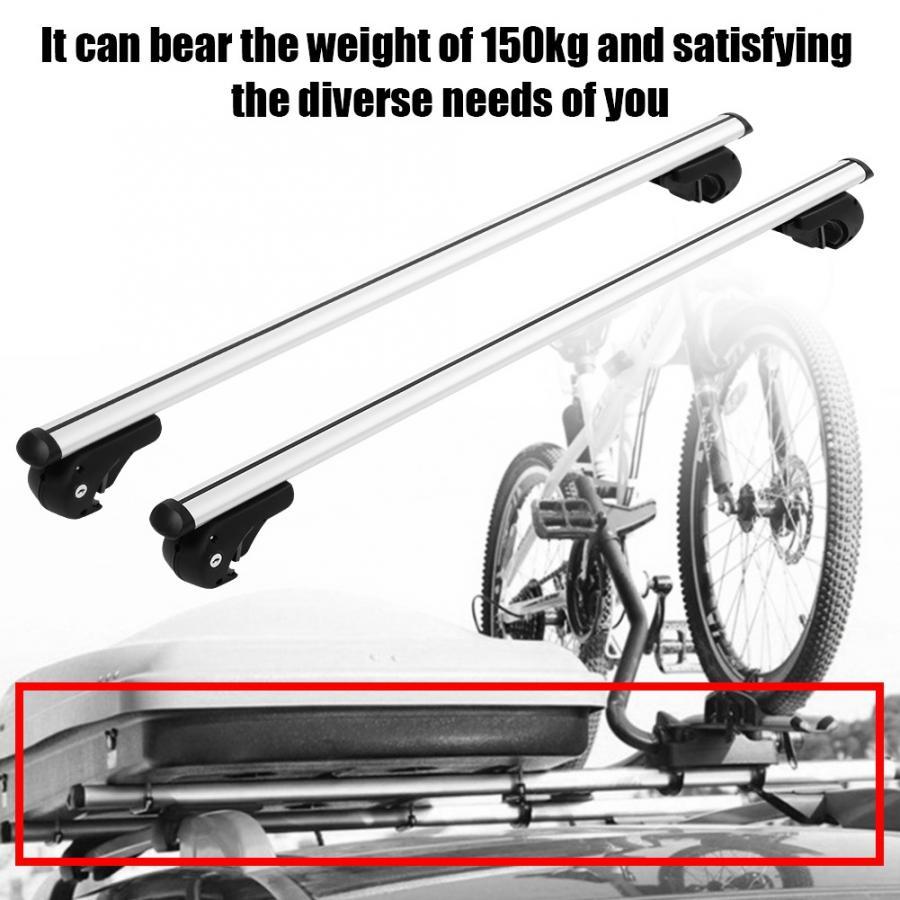 SavingPlus Lockable Car Aluminum Roof Rack Bars Rail Anti Theft Luggage Carrier Travel