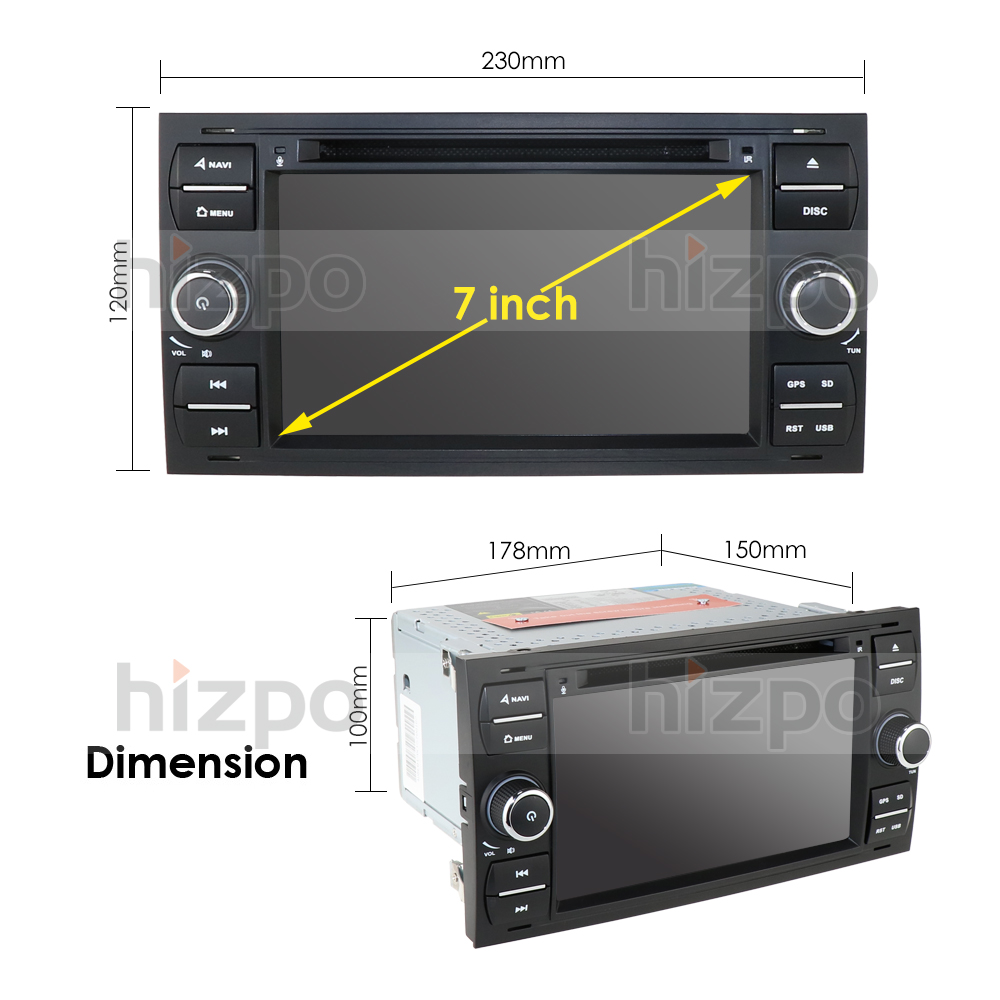 Image 5 - 1024*600 Quad Core Android 10 Car DVD GPS FOR FORDFOCUS C MAX Car DVD Player 7 IPS Touch Screen 2Din Car Multimedia RDS DVRCar Multimedia Player   -