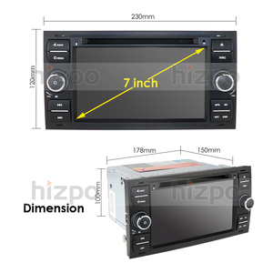 Image 5 - 1024*600 Quad Core Android 10 Car DVD GPS FOR FORDFOCUS C MAX Car DVD Player 7 IPS Touch Screen 2Din Car Multimedia RDS DVR