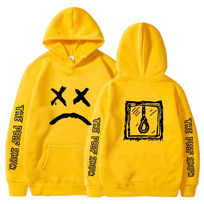 Lil Peep Hoodies Love Lil.peep Men Sweatshirts Hooded Pullover Sweatershirts Women Sudaderas Cry Baby Hood Hoddie S-XXXL Yellow