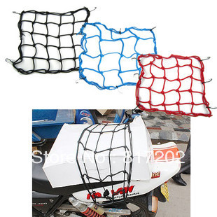 1 Dozen 12pcs High Quality TANKED TKD RACING 6 Hooks Motorcycle Bungee Cargo Net Motorcycle accessories Helmet Net