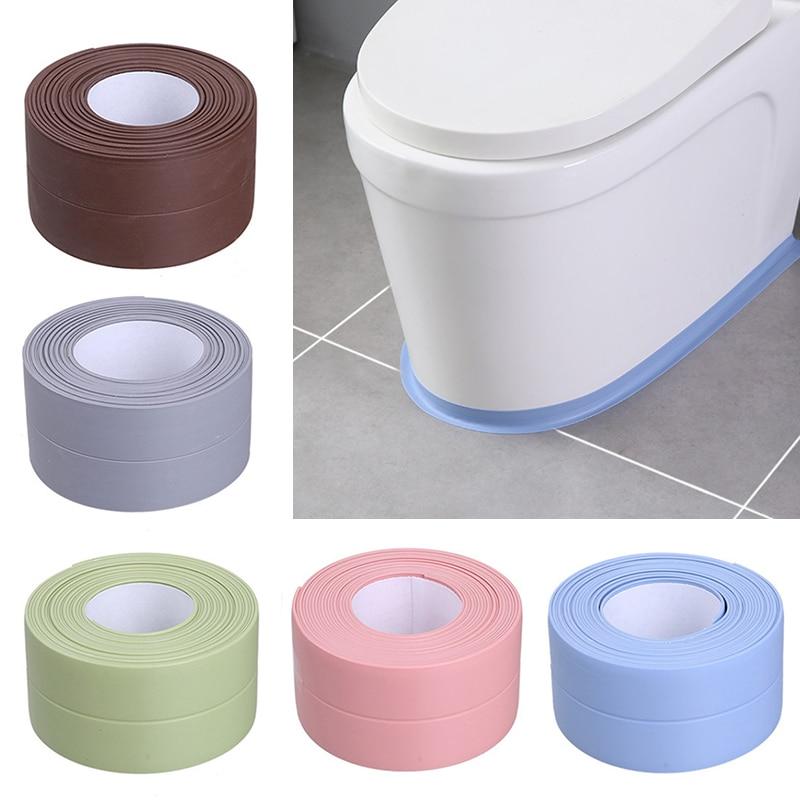 Водостойкая самоклеящаяся лента 3,2 м для кухонной раковины, самоклеящаяся лента для защиты от влаги, ПВХ наклейка для ванной комнаты, наклей...