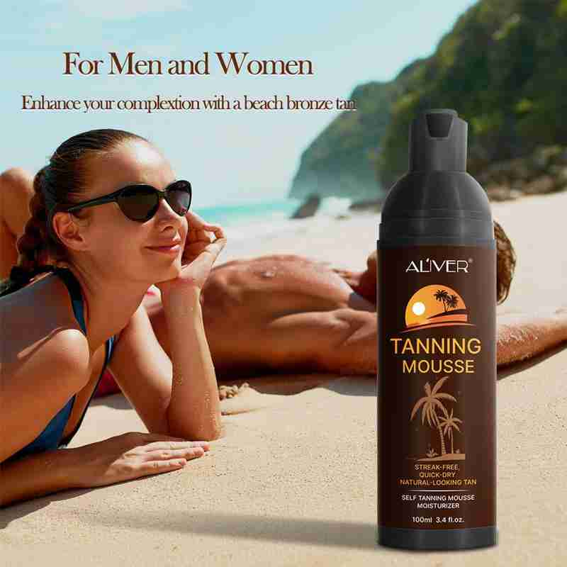 Body Self Tanners Cream Tanning Mousse for Bronzer Face Body Nourishing Skin Makeup Medium Skin Care Sunless Tanning Lotion