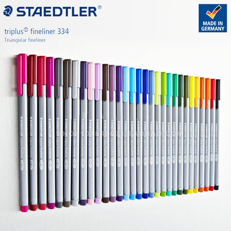 1 Pcs STAEDTLER Triangle Color Hook Line Pen 334 Needle Pen 0.3mm Hand Fiber Pen Durable Color Bright