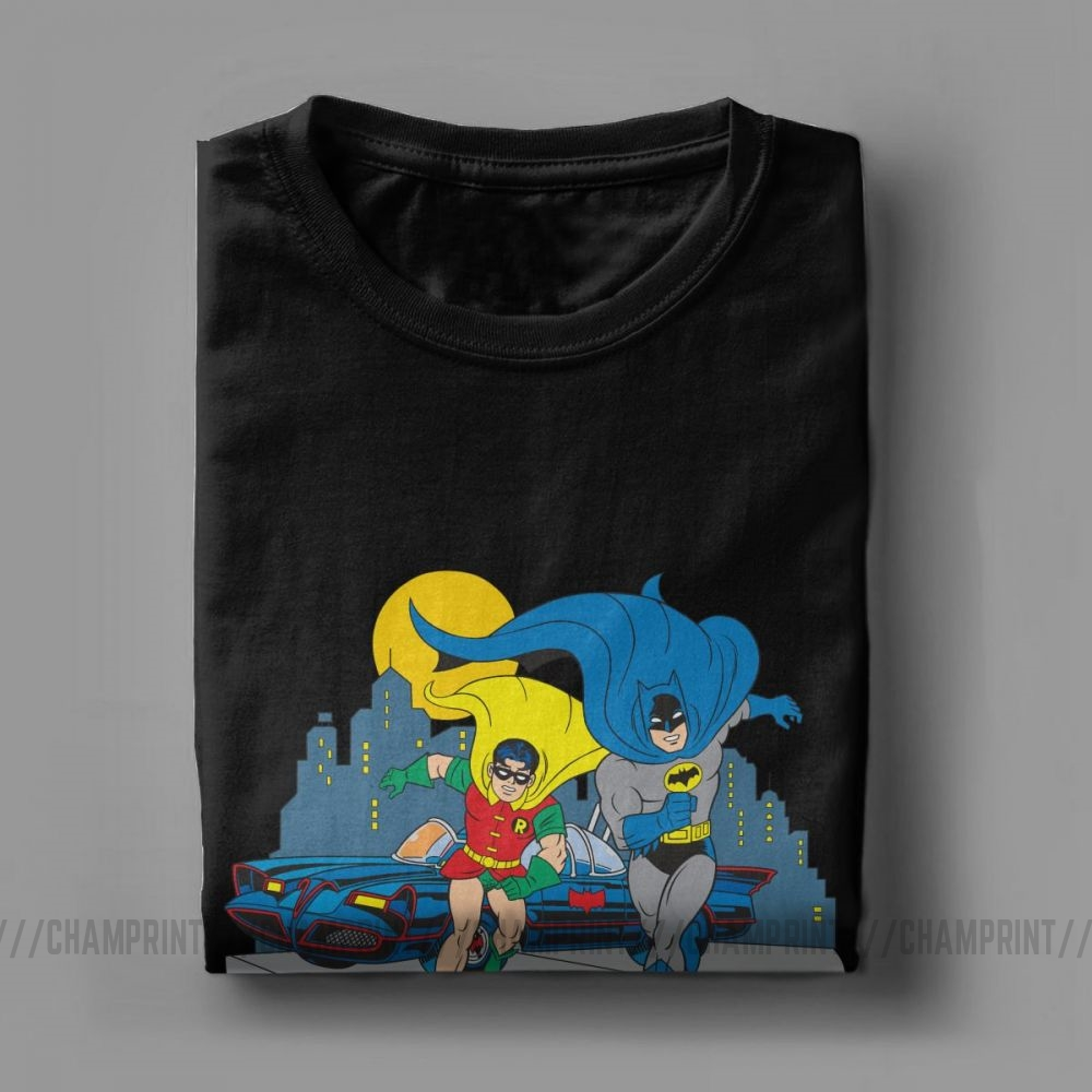 Batman Batman Block Adult V-neck T-shirt