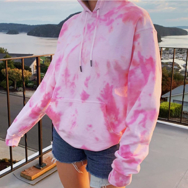 Rainbow Hoodies Women Sweatshirt Oversize Tie Dye Hoodie Streetwear Pullover Spring Autumn Casual Women Sweatshirts Hoddies Tops 5