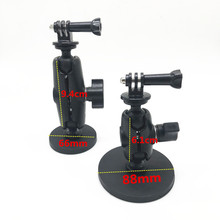magnetic magnet car motorcycle suction cup mount 1 inch ball joint for sony garmin gopro action camera camcoders osmo smartphone