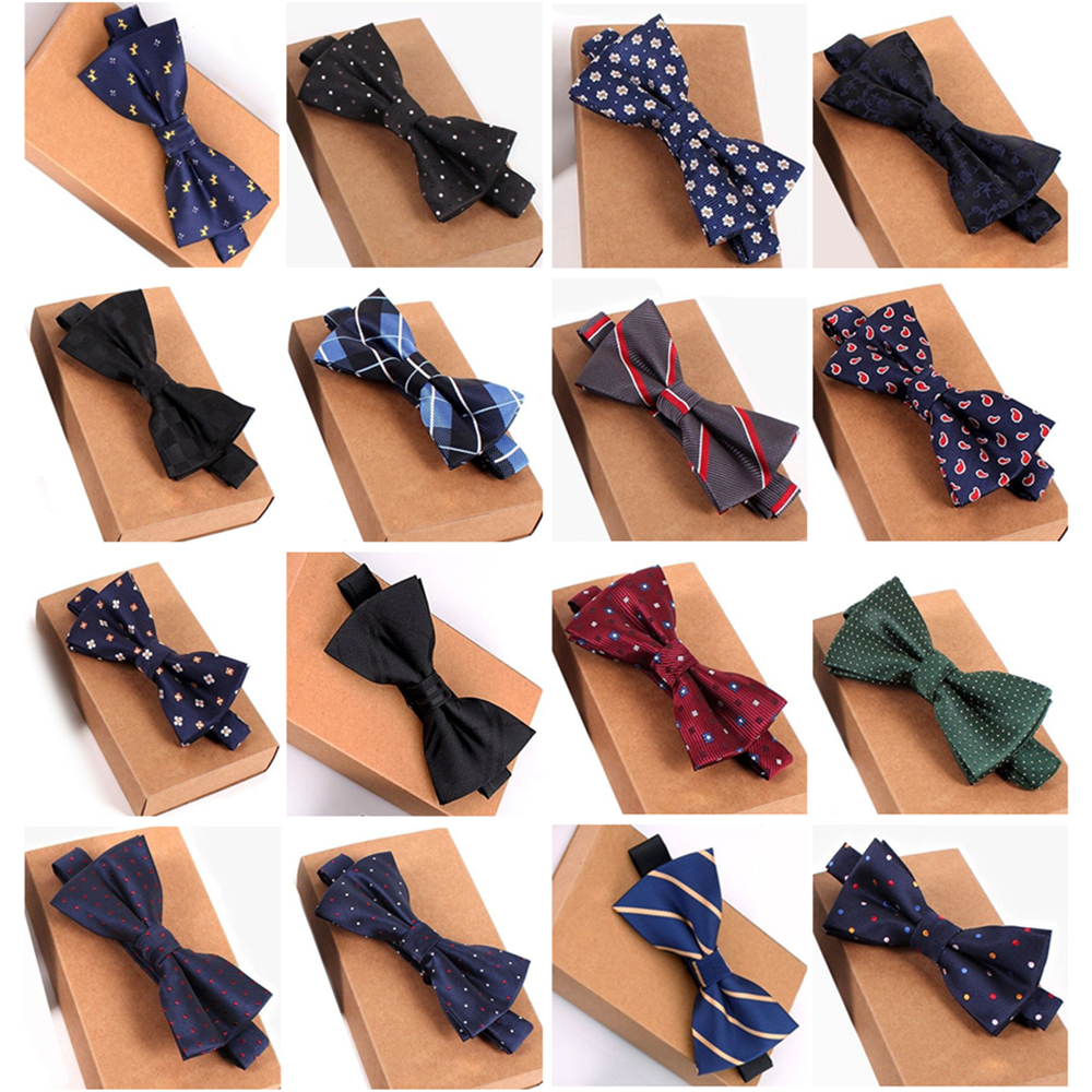 Designer Bowtie High Quality Fashion 2019 Man Shirt Accessories Navy Dot Bow Tie For Wedding Men Wholesale Party Business Formal