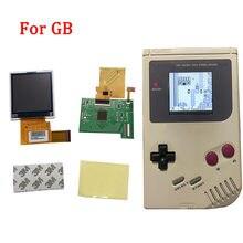 Luz Juegos de LCD para Nintend GB lcd con retroiluminación de la pantalla de alta luminosidad LCD con cable de cinta de reemplazo para GB DMG GBO consola
