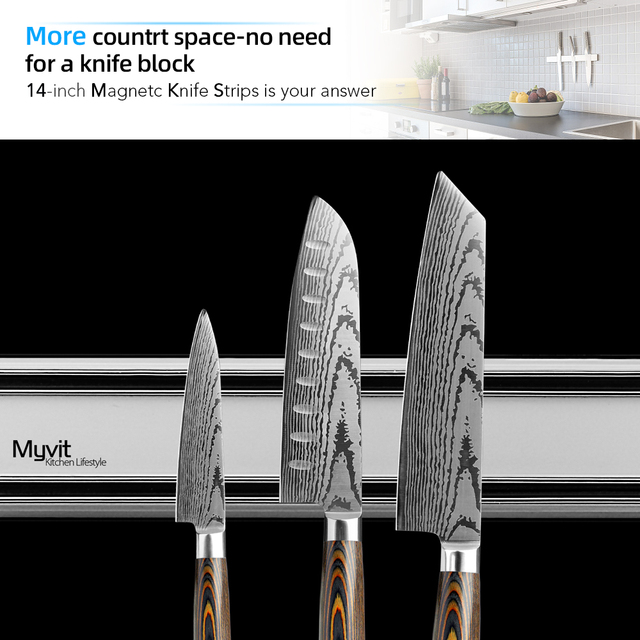 Magnetic Knife Holder Wall Mounted 4