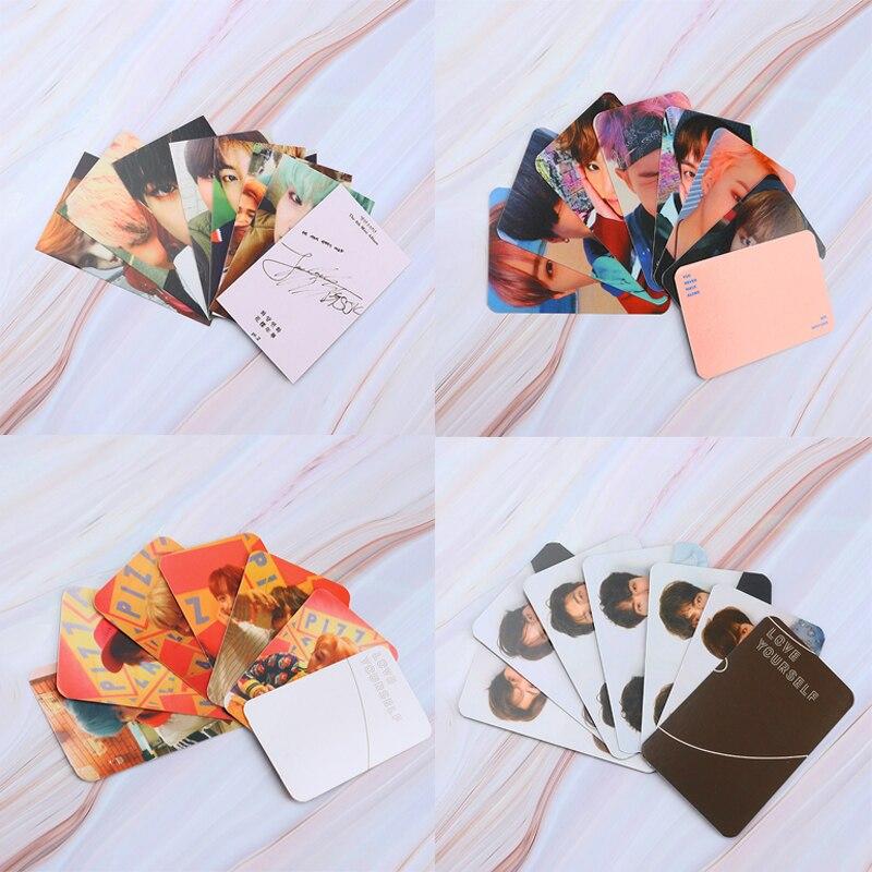 Альбом Kpop, Фотокарточка Bangtan Boys, коллекционная фотокарточка, самодельные бумажные карточки, ломо-карточки, подарок для любителей