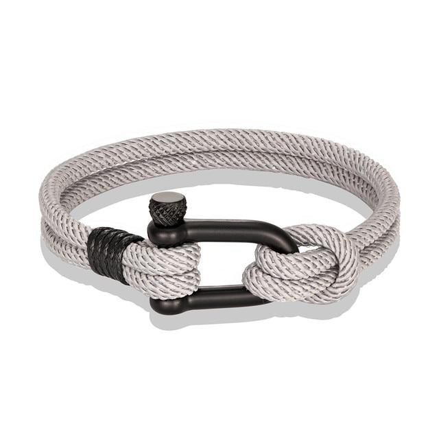 Mkendn Men U Shape Survival Bracelet Outdoor Camping Rescue Emergency Rope Brace