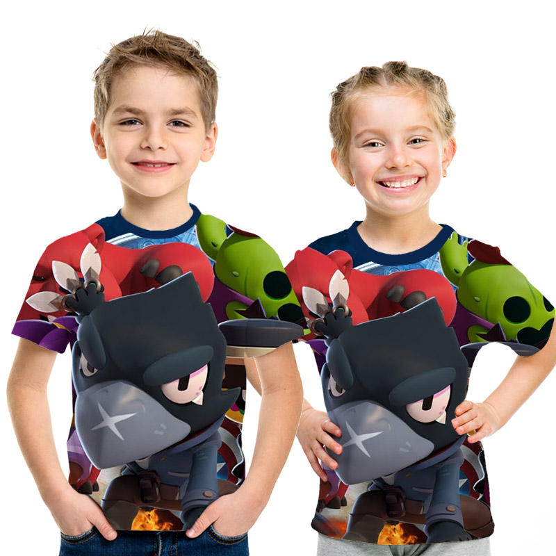 New Arrival Game Brawl Stars 3D Printed T Shirts Summer Tops children T Shirts Boys and girls Fashion Casual Personaity t Shirt image