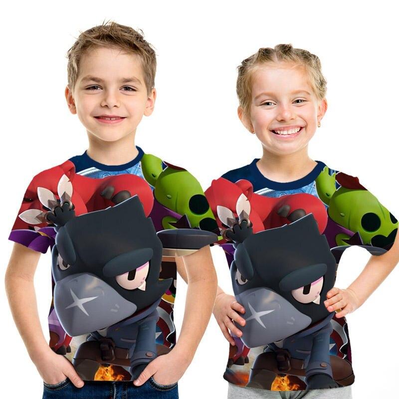 Novo Jogo Chegada Briga Estrelas 3D Impresso T Camisas Verão Tops crianças Camisetas Meninos e meninas Da Moda Personaity Casuais camisa de t