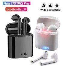 I7s tws sem fio bluetooth fones de ouvido mini estéreo baixo fone esporte com caixa carregamento para iphone xiaomi huawei