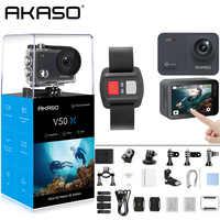 AKASO V50X Native 4 K/30fps WiFi Action Kamera mit 2 ''EIS Touchscreen 131 Füße Wasserdichte Kamera fernbedienung Sport Kamera