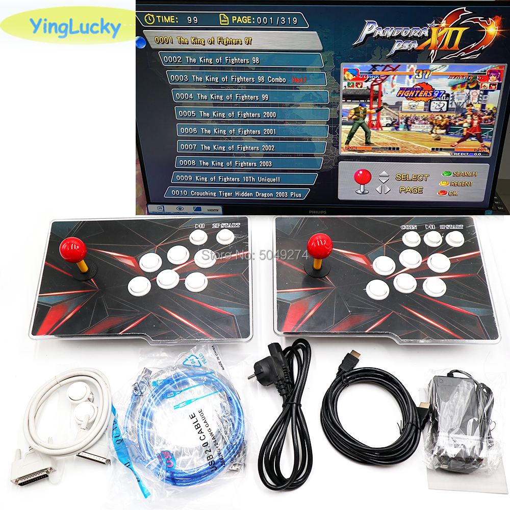Pandora XII 3188 En 1 Tablero 53 Uds 3D Caja De Juegos 12 Soporte 3/4P Jamma Versión Caja Arcade Máquina HD Videojuego HDMI VGA