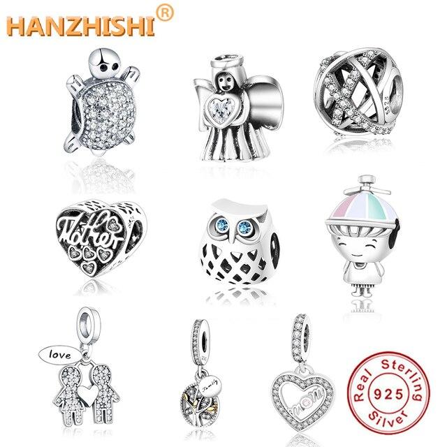 Подходит для оригинального браслета Pandora, ювелирные украшения для самостоятельного изготовления, осенняя коллекция, ажурные Подвески с ром...