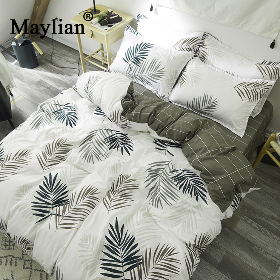 Colorful Home Textile 3/4pcs Bedding Sets Duvet Cover Bed Sheet Pillow Cover Polyester Autumn Winter Warm Brand BE1173