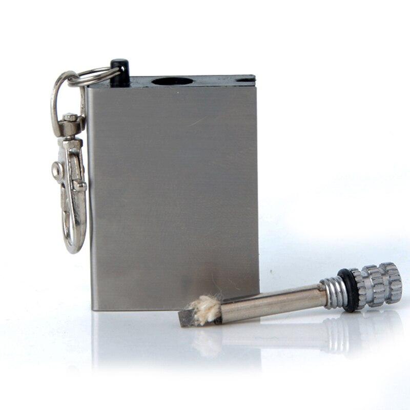 HOT 1pcs Stainless Steel Torch Lighters Kerosene Oil Flame Lighter Million Matches Flint Fire Starter