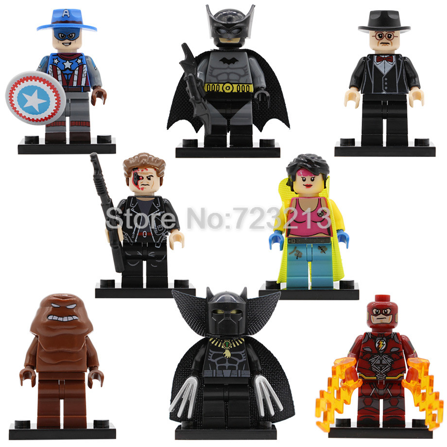 Single Super Hero Jubilee Clayface Figure Black Batman Panther Jim Downing Arnim Zola Building Blocks Sets Model Toy Legoing