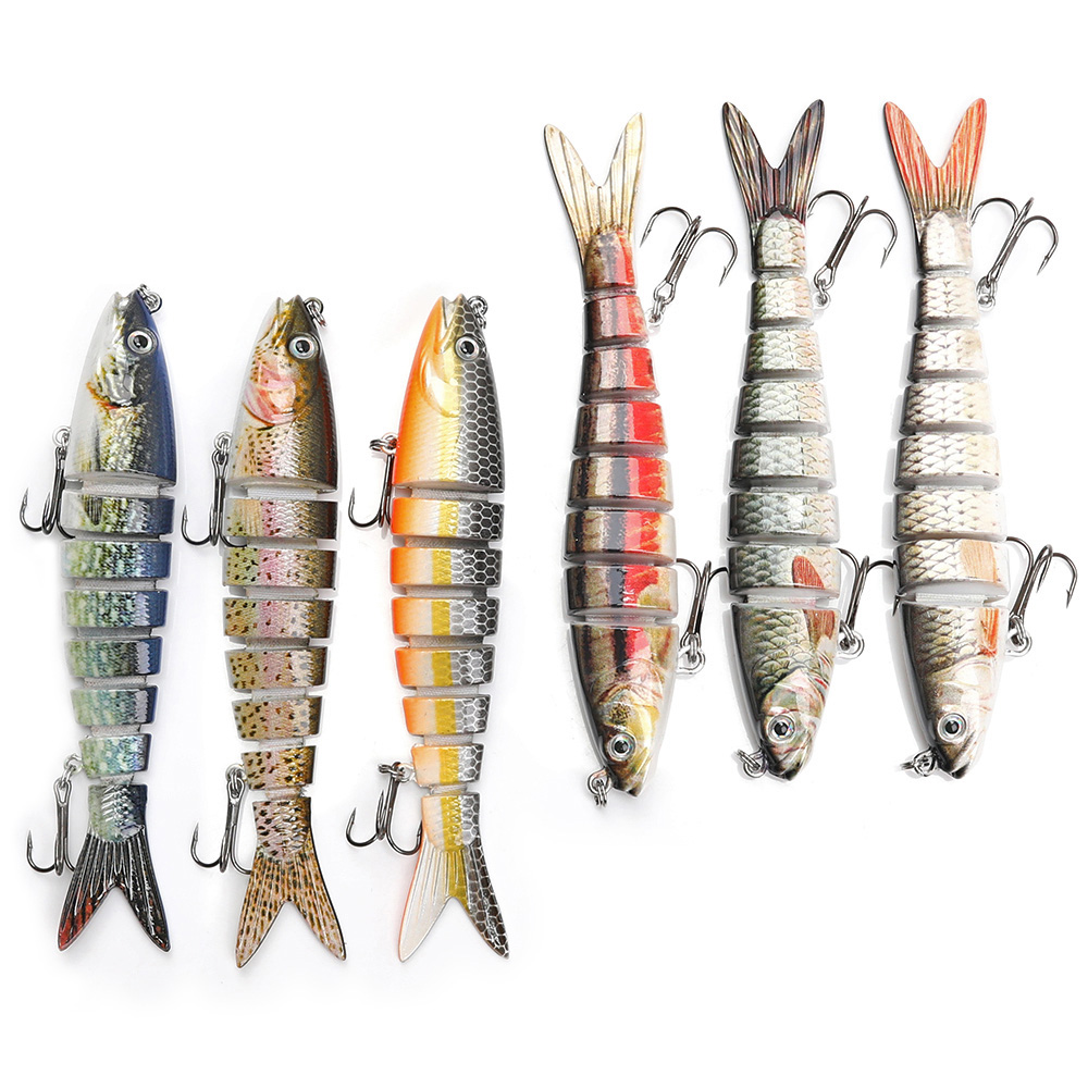 Image 5 - 13.7cm 26g Pike Wobblers Fishing Lures Sinking 8 Segments Multi Jointed Artificial Bait Hard Swimbait Crankbaits Fishing Tackle-in Fishing Lures from Sports & Entertainment