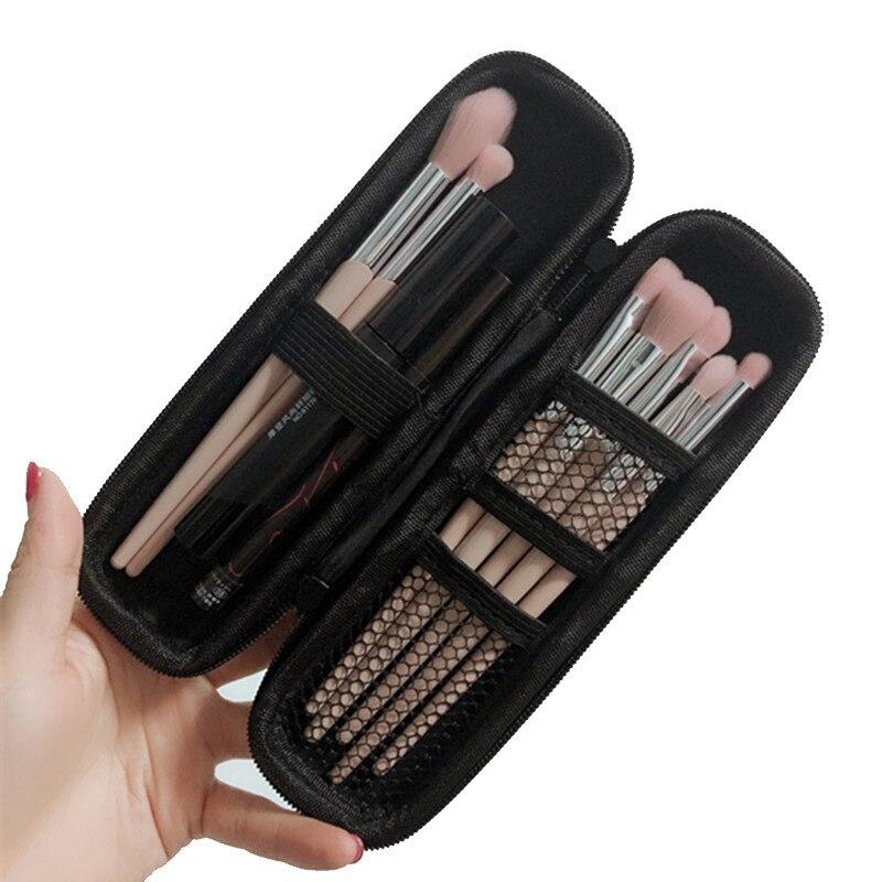 Fashion Black Cosmetic Bag Portable Travel Wash Makeup Case Mini Beauty Organizer Toiletry Women Zipper Function Make Up Box