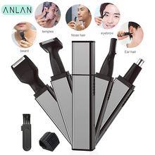 ANLAN Electric Nose Ear Hair Trimmer Rechargeable Beard Eyebrow Razor 4 in1 Shaver Cutter Clipper