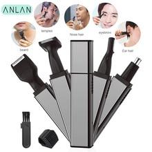ANLAN Electric Nose Ear Hair Trimmer Rechargeable Beard Eyebrow Trimmer Razor 4 in1 Electric Nose Ear Shaver Hair Cutter Clipper стоимость