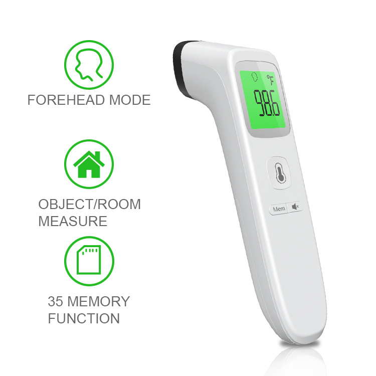 Non-contact Digital Infrared Forehead Thermometer Scanner Body Ear Temperature Monitor Thermometer Scanner Gun For Adult Kids