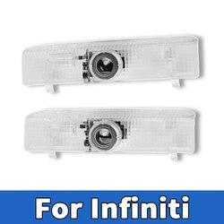 2X 3D LED samochodów LED drzwiowe światło wejściowe Infiniti-JX35(2013) Infiniti-QX60(2014 2015 2016 2017 2018) projektor do Logo laserowe lampka drzwi