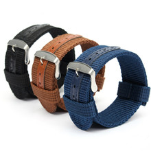 Nylon Watchband 18mm 20mm 22mm 24mm Replacement Belt Watch Band Strap Wrist Strap Watch Accessories Universal Hot Sell Nylon(China)