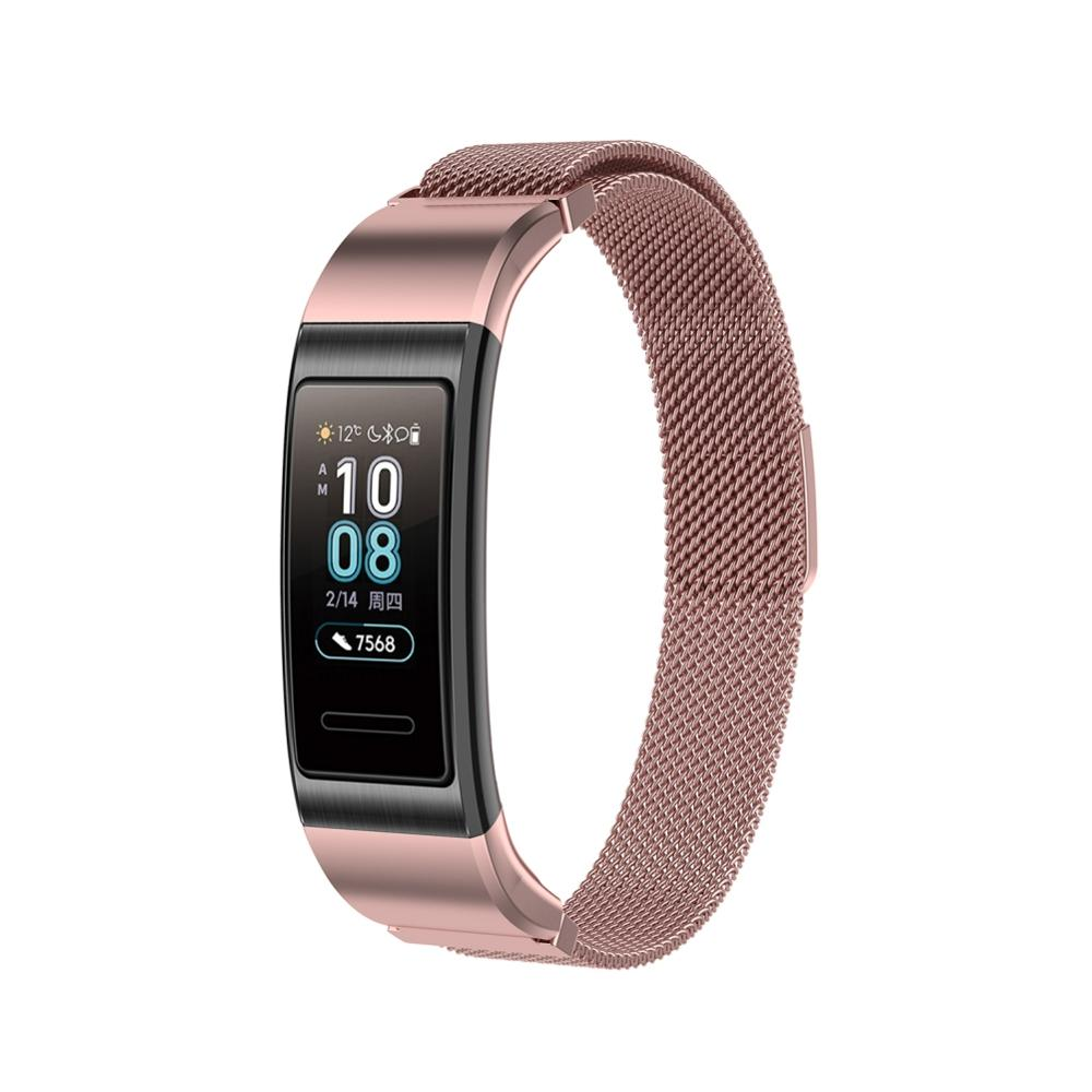 Colorful Magnetic Absorption Milanese Loop Magnetic Wristband Strap For Huawei Honor Band 3/Band 3 Pro Smart Watch Accessories 1