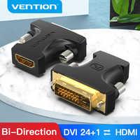 Vention-adaptador DVI a HDMI, DVI-D bidireccional 24 + 1 macho a HDMI hembra, conector convertidor de Cable para proyector de TV, HDMI a DVI
