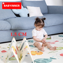 Babyinner XPE Folding Baby Play Mat 1.5cm Thickened Double-sided Cartoon Household Floor Mats Baby Game Mats Children's Carpet