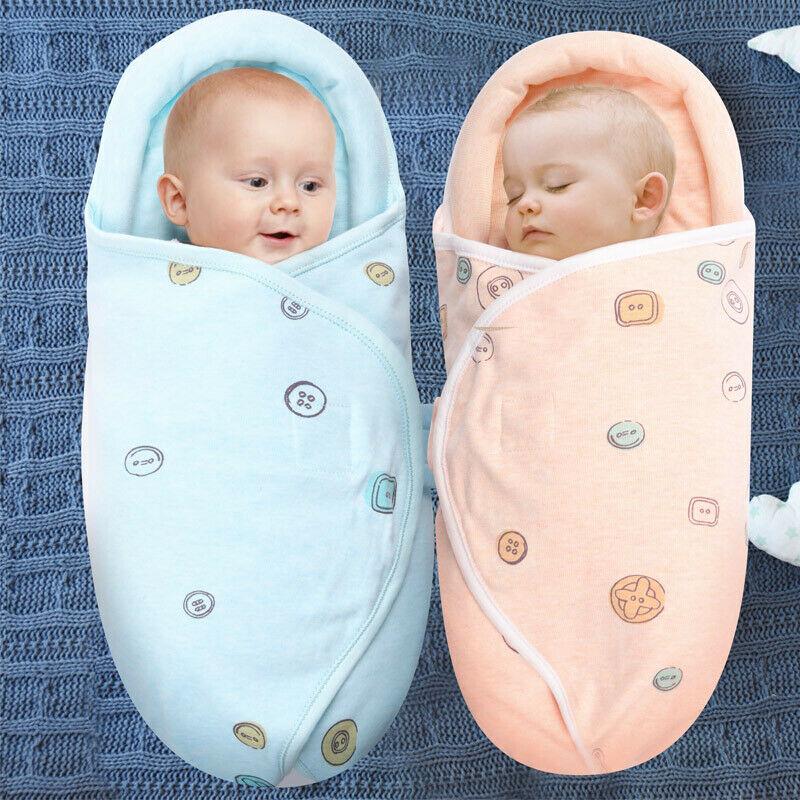 Soft Newborn Baby Boy Girl Cotton Swaddle Wrap Blanket Protective Sleeping Bag