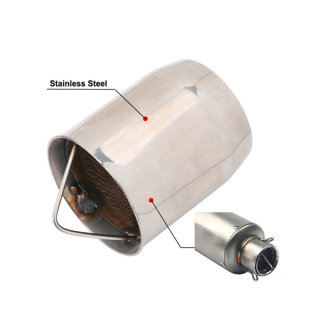 Universal 60mm Removable Silencer Exhaust Pipe Muffler DB Killer for Motorcycle
