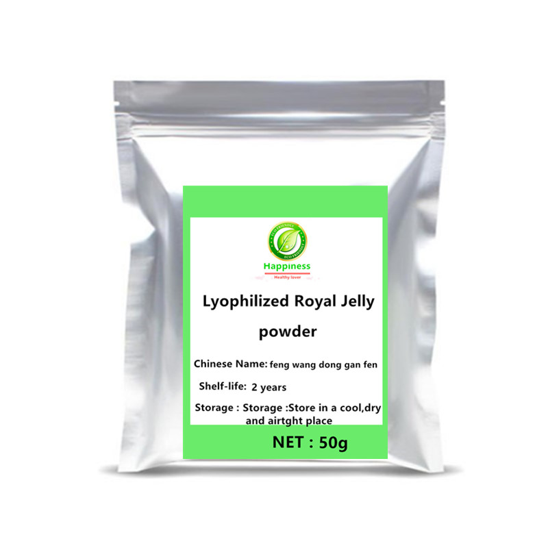 Hot sale Lyophilized Royal jelly bees spoon extract powder 1pc Nutrition top Bee Milk protein Healthy Supplement free shipping. image