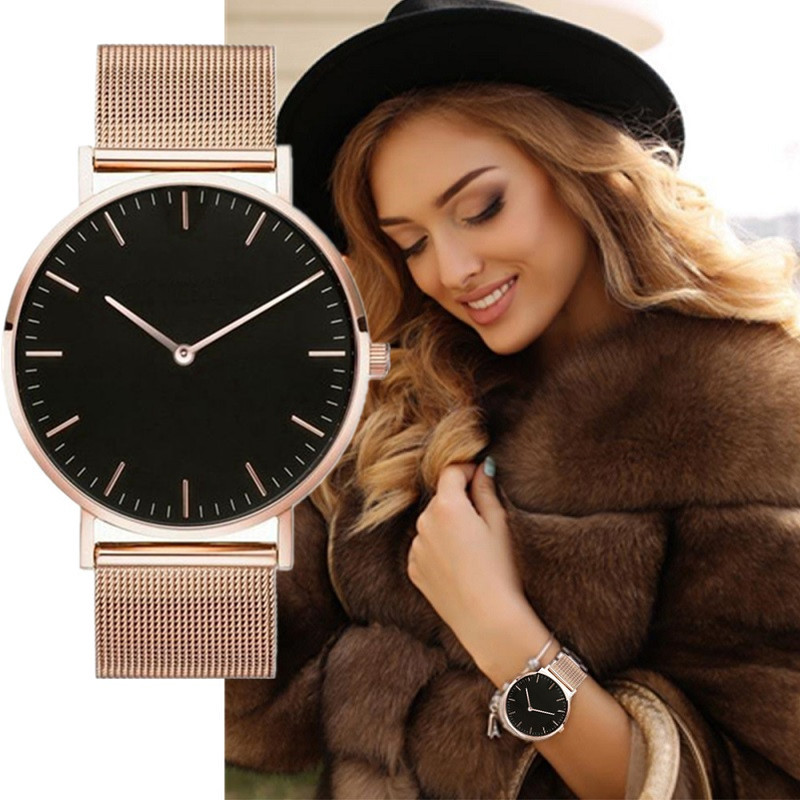 Women Watch Analog Quartz Wrist Watch Relogio Feminino Womens Watches Casual Rose Gold Bracelet Female Ladies Clock Reloj Mujer