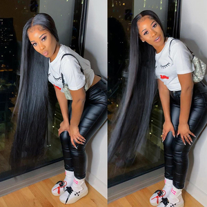Image 5 - RosaBeauty 28 30 32 40 Inch Natural Color Brazilian Hair Weave 1 3 4 Bundles Straight 100% Remy Human Hair Extensions Weft deals