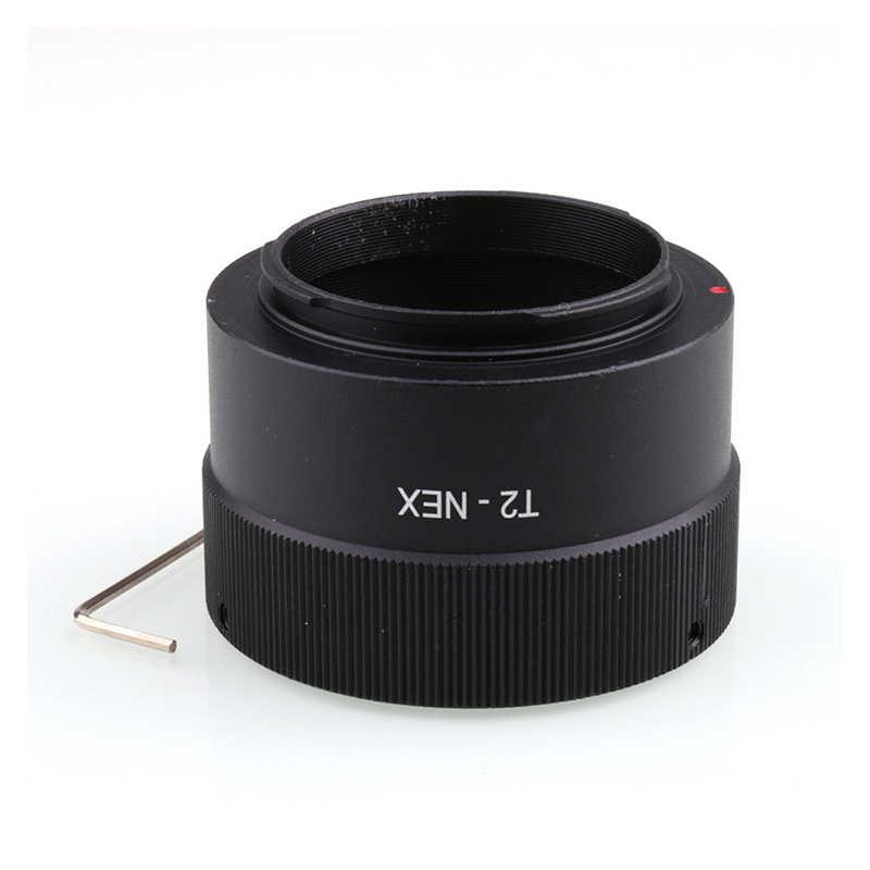 T2 T Teleobiettivo Specchio Lens per Nex E Mount Anello Adattatore per Sony A5100 A6000 A6300 A6500 NEX3/5/5N /7/6/5R/5T A7 A7r A9 Fotocamera