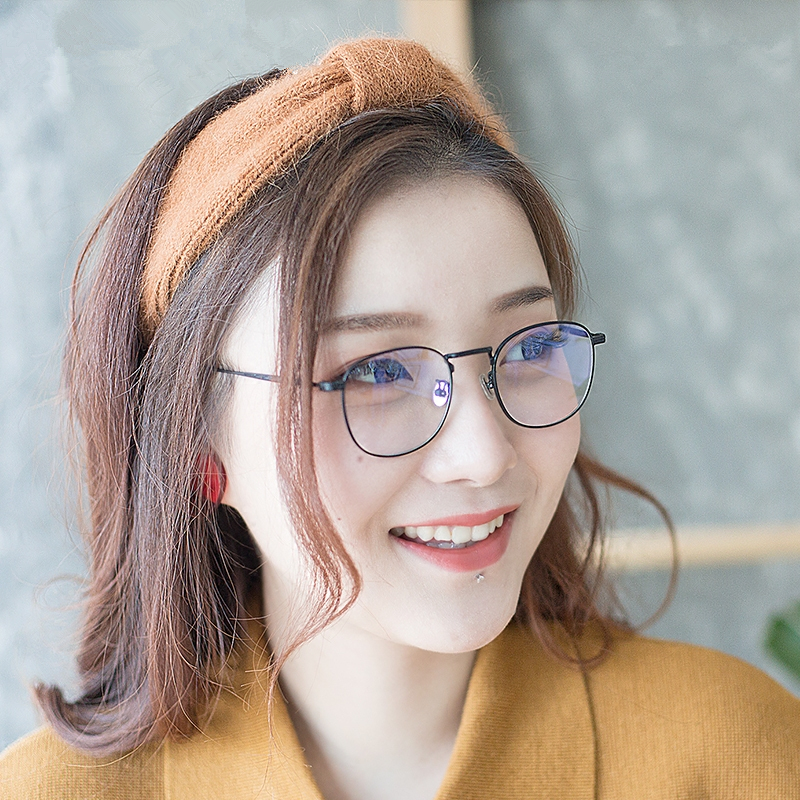 2019New Vintage Pattern Myopia Glasses Frame For Man Round Glasses Frame Women Anti-Blue Prescriptio Eyeglasses ó<font><b>culos</b></font> de grau image