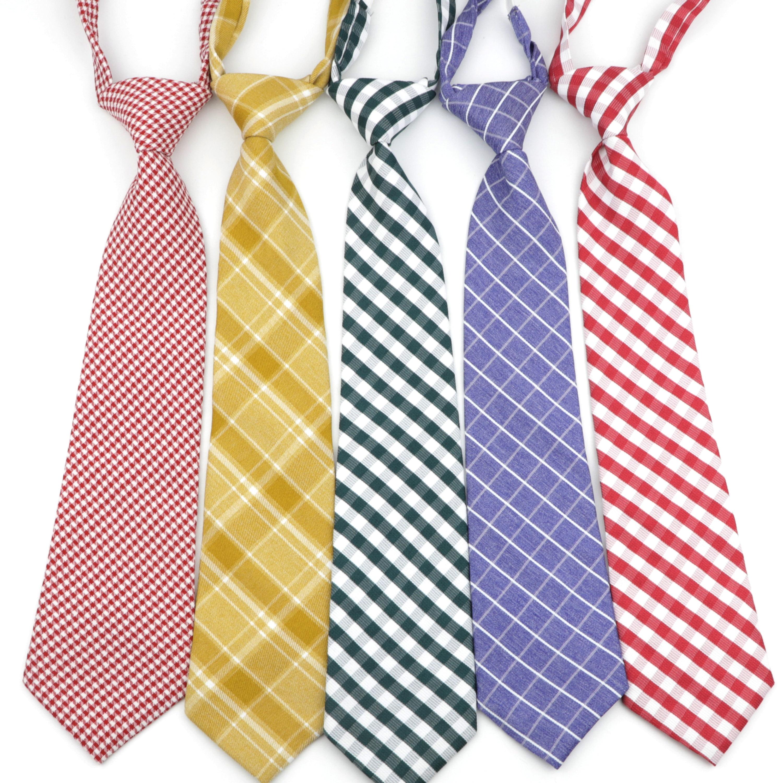 College Striped Plaid Ties Lazy Necktie Fashion School Professional Uniform Girl Student Waitress Staff Bow Tie Shirt Accessory