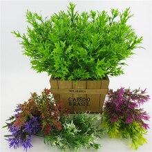 5 Forks Rural Plastic Grass Potted Plant Set Artificial Flowers Bonsai Flowerpot Wedding Home Decorative 34CM