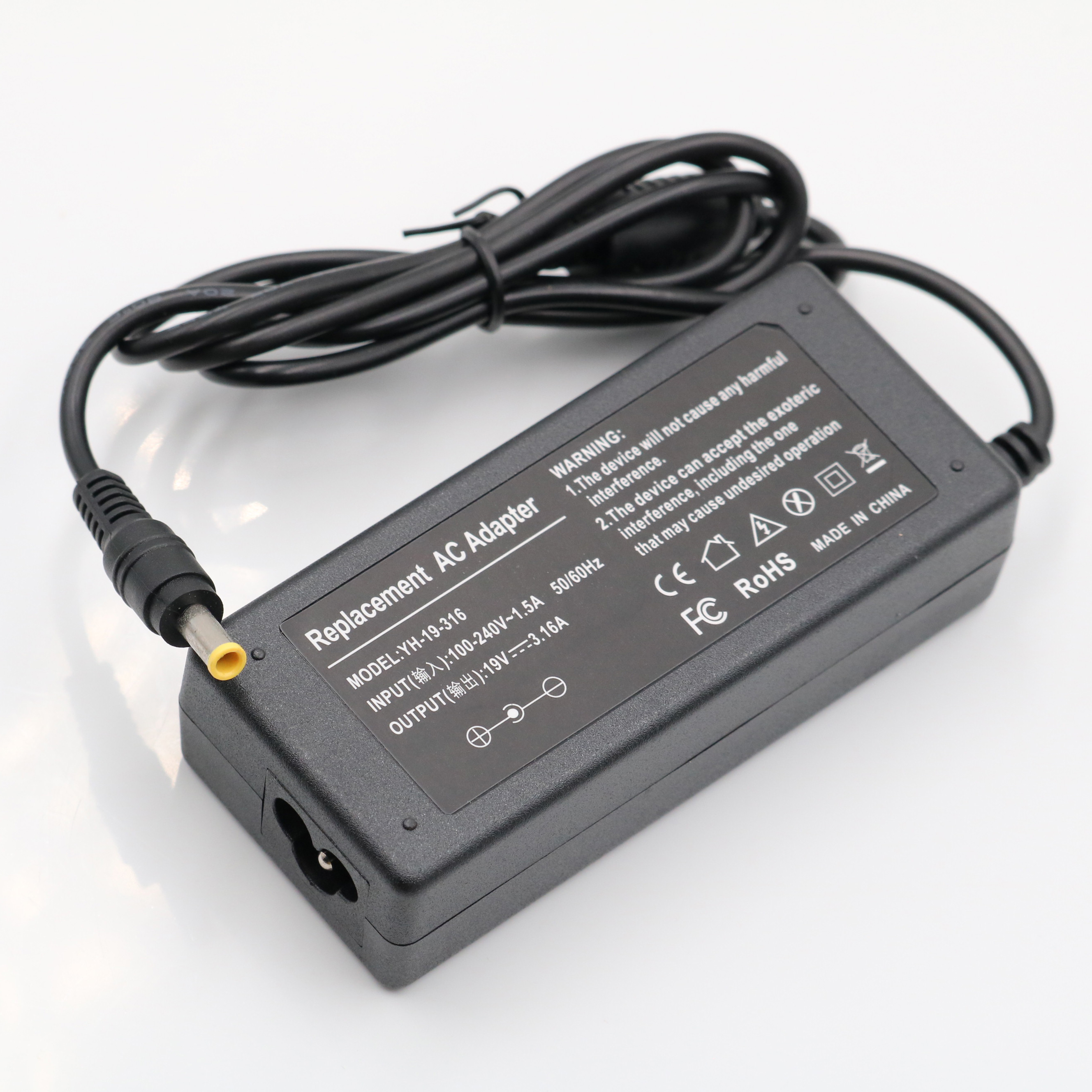 19V 3.15A 5.5*3.0mm AC Adapter Charger For Notebook Samsung BA44-00243A AD-6019 AP04214-UV High Quality